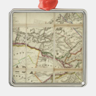 Map of the District of Montreal, Lower Canada Metal Ornament