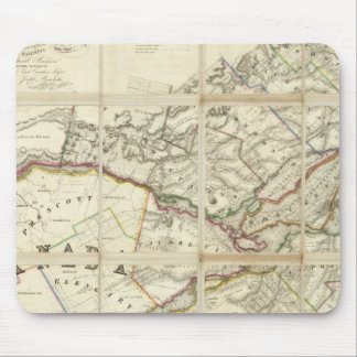 Map of the District of Montreal, Lower Canada Mouse Pad