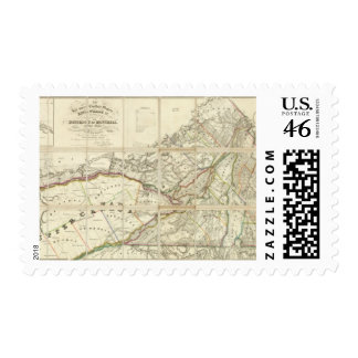 Map of the District of Montreal, Lower Canada Stamps