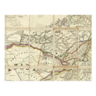 Map of the District of Montreal, Lower Canada Postcard