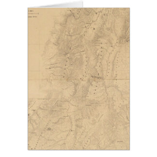 Map of the district of the High Plateaus of Utah Greeting Card