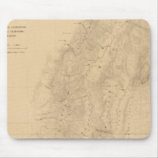 Map of the district of the High Plateaus of Utah Mouse Pad