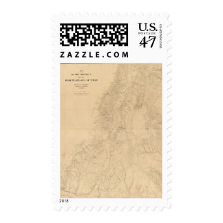 Map of the district of the High Plateaus of Utah Postage