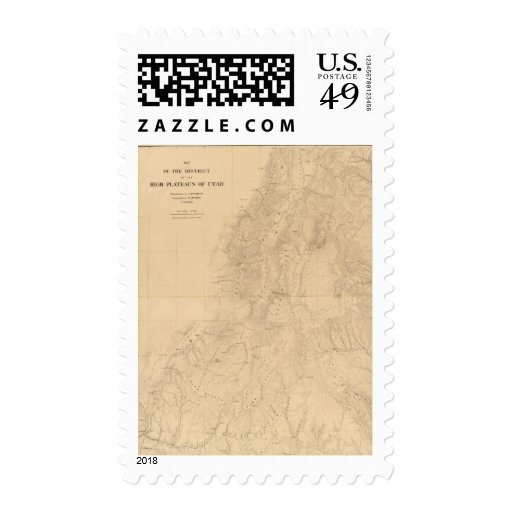 Map of the district of the High Plateaus of Utah Stamps