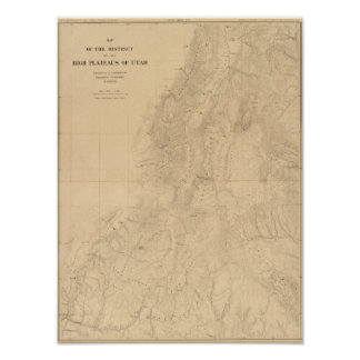 Map of the district of the High Plateaus of Utah Poster