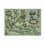 Map of the East Indies, pub. 1635 in Amsterdam (ha Post Cards