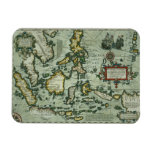 Map of the East Indies, pub. 1635 in Amsterdam (ha Rectangular Magnets