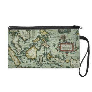 Map of the East Indies, pub. 1635 in Amsterdam (ha Wristlet