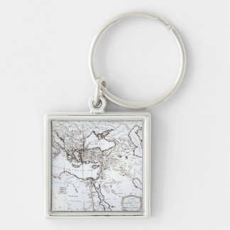 Map of the Eastern Part of the Roman Empire Keychains