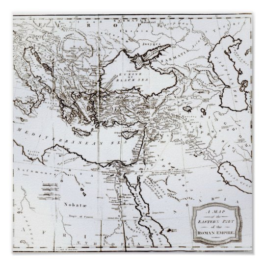 Map of the Eastern Part of the Roman Empire Poster