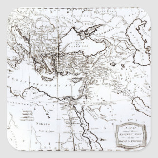 Map of the Eastern Part of the Roman Empire Square Sticker