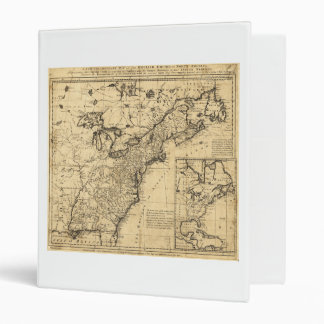 Map of the English Empire in North America (1755) 3 Ring Binder