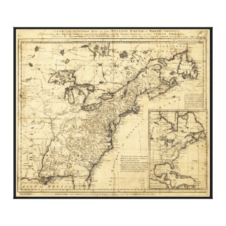 Map of the English Empire in North America (1755) Canvas Print