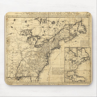 Map of the English Empire in North America (1755) Mouse Pad
