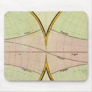 Map of the equater mouse pad