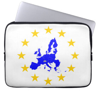 Map of the European union with star circle Laptop Sleeve