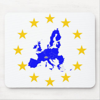 Map of the European union with star circle Mouse Pad