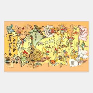Map of the Fairy Tale Lands Rectangular Sticker