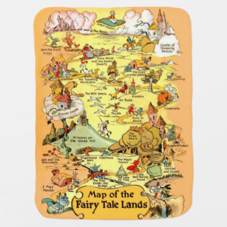 Map of the Fairy Tale Lands Swaddle Blanket