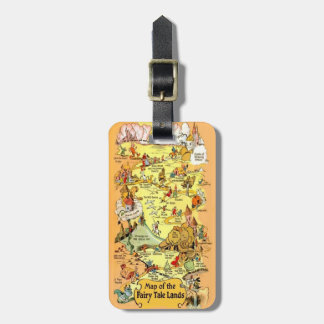 Map of the Fairy Tale Lands Tags For Luggage