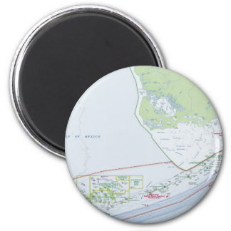 Map of the Florida Keys 2 Inch Round Magnet