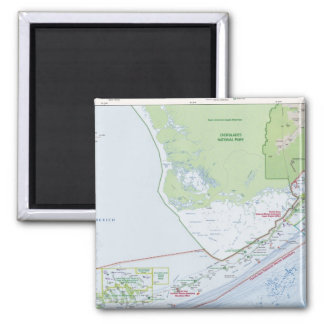 Map of the Florida Keys 2 Inch Square Magnet