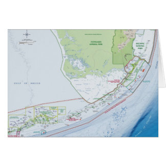 Map of the Florida Keys Card