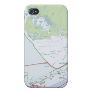 Map of the Florida Keys Case For iPhone 4