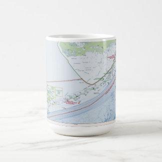 Map of the Florida Keys Coffee Mug