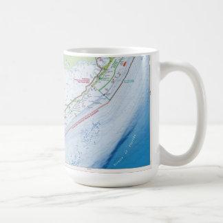 Map of the Florida Keys Coffee Mugs
