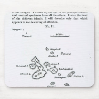 Map of the Galapagos Archipelago, 1844 Mouse Pad