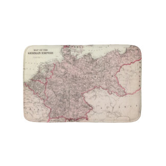 Map of the German Empire Bathroom Mat