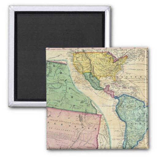 Map of the Gold Regions of California Fridge Magnet