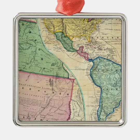 Map of the Gold Regions of California Metal Ornament