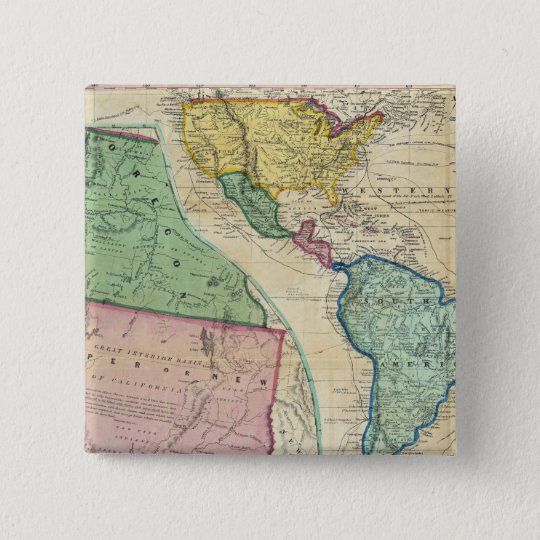Map of the Gold Regions of California Pinback Button
