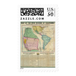 Map of the Gold Regions of California Postage