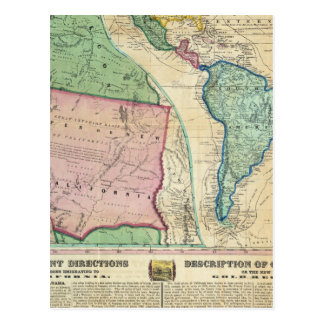 Map of the Gold Regions of California Postcards