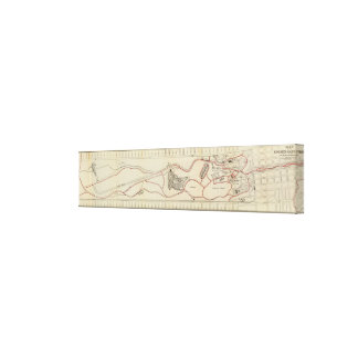 Map of the Golden Gate Park Canvas Print