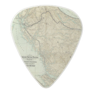 Map Of The Grand Trunk Pacific Railway Acetal Guitar Pick