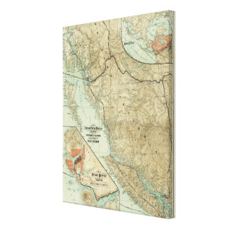 Map Of The Grand Trunk Pacific Railway Gallery Wrapped Canvas