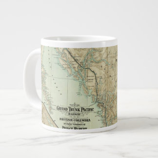 Map Of The Grand Trunk Pacific Railway Large Coffee Mug