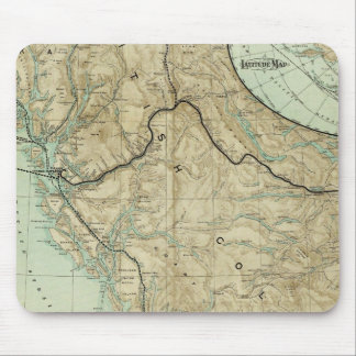 Map Of The Grand Trunk Pacific Railway Mousepads