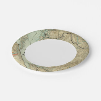 Map Of The Grand Trunk Pacific Railway Paper Plate