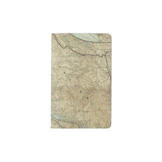Map Of The Grand Trunk Pacific Railway Pocket Moleskine Notebook