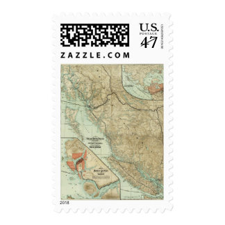 Map Of The Grand Trunk Pacific Railway Postage