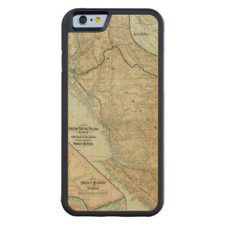 Map Of The Grand Trunk Pacific Railway Carved® Maple iPhone 6 Bumper Case
