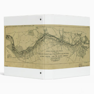 Map of the Great Falls Park (1928) Vinyl Binder