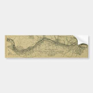 Map of the Great Falls Park (1928) Car Bumper Sticker