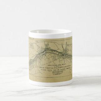 Map of the Great Falls Park (1928) Coffee Mug