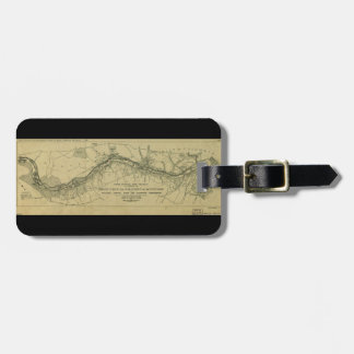 Map of the Great Falls Park (1928) Travel Bag Tag